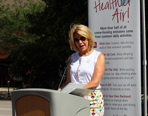 Omaha mayor Jean Stothert spoke at Tuesday's press conference.